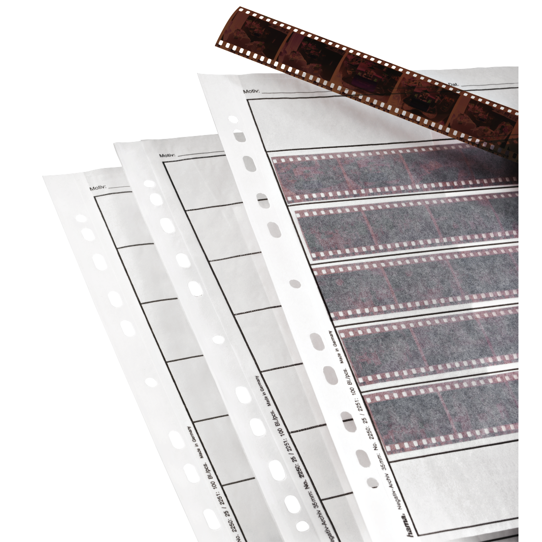 abx High-Res Image - Hama, Negative Sleeves, Parchment, 7 Strips of 6 Negatives, 24x36 mm, 100 pcs.