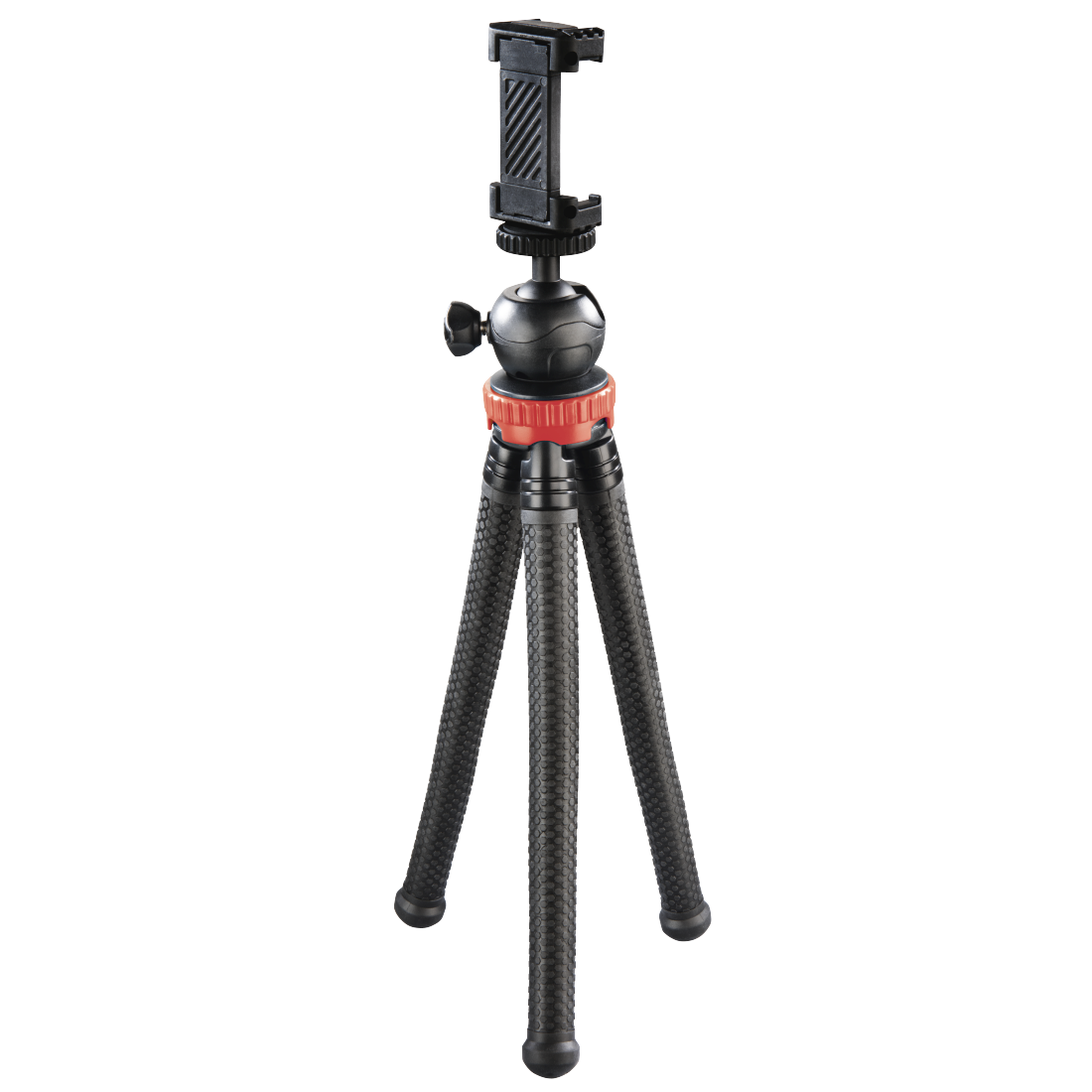 "abx High-Res Image - Hama, ""FlexPro"" Tripod for Smartphone, GoPro and Photo Cameras, 27 cm, red"
