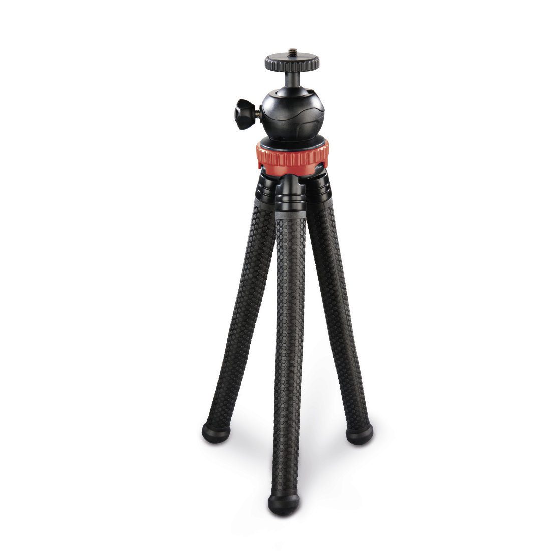 "abx2 High-Res Image 2 - Hama, ""FlexPro"" Tripod for Smartphone, GoPro and Photo Cameras, 27 cm, red"
