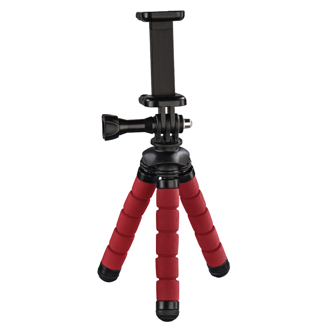 "abx High-Res Image - Hama, ""Flex"" Mini-Tripod for Smartphone and GoPro, 14 cm, red"