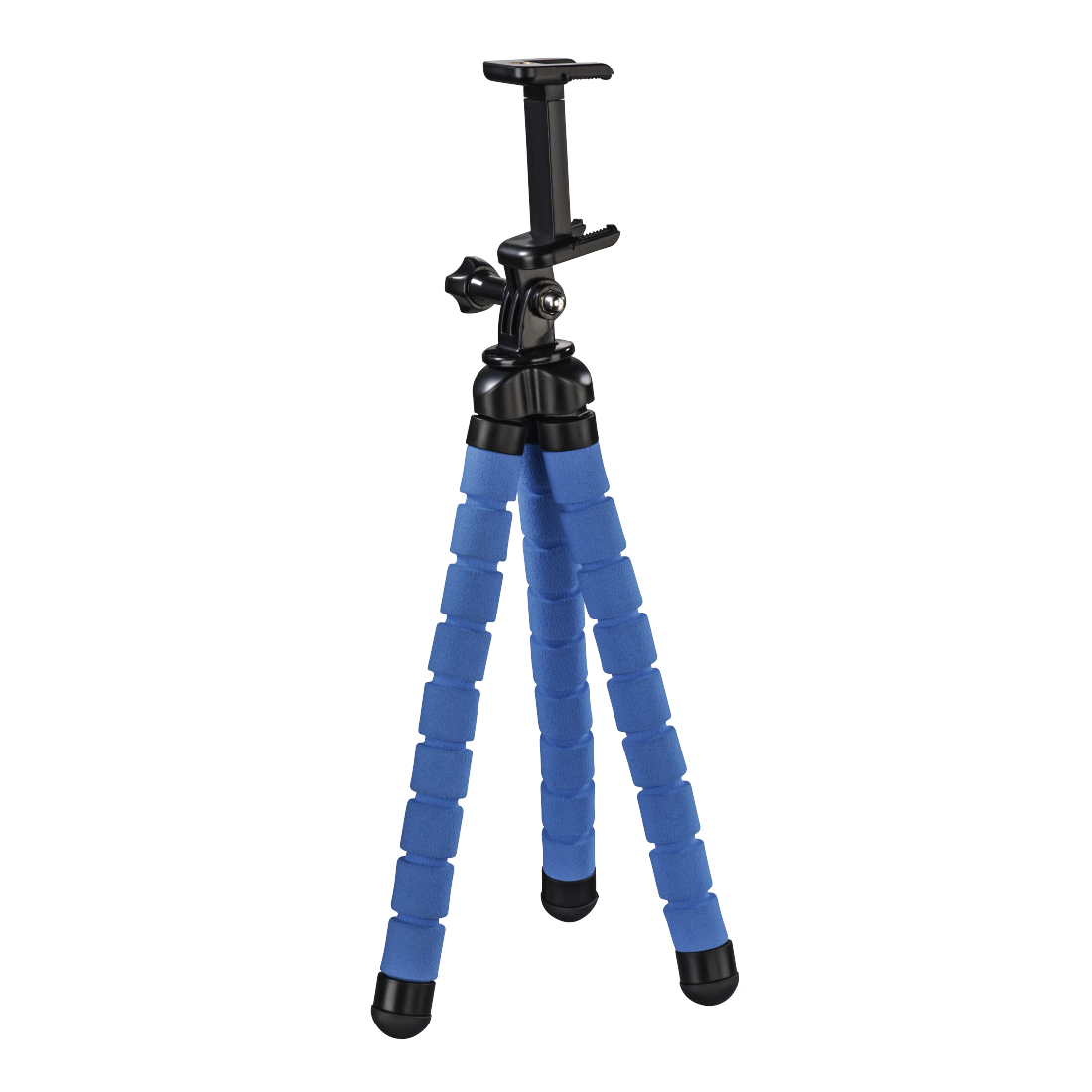 "abx4 High-Res Image4 - Hama, ""Flex"" Tripod for Smartphone and GoPro, 26 cm, blue"