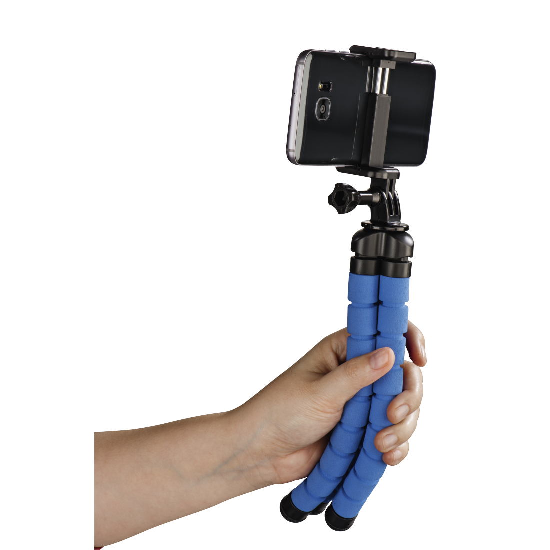 "abx5 High-Res Image 5 - Hama, ""Flex"" Tripod for Smartphone and GoPro, 26 cm, blue"
