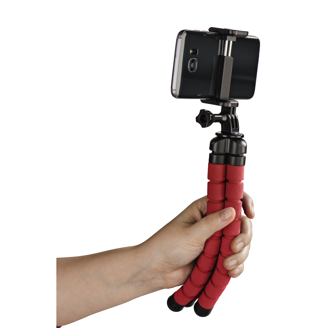abx5 High-Res Image 5 - Hama, Flex Tripod for Smartphone and GoPro, 26 cm, red