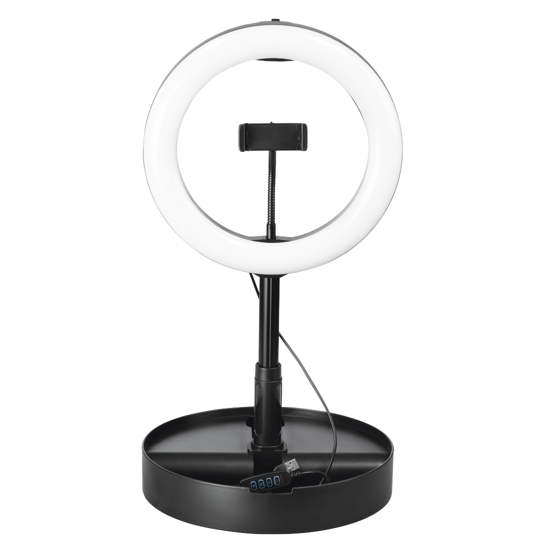 "abx High-Res Image - Hama, ""SpotLight FoldUp 102"" LED Ring Light, Set for Smartphones, Foldable, 10.2"""