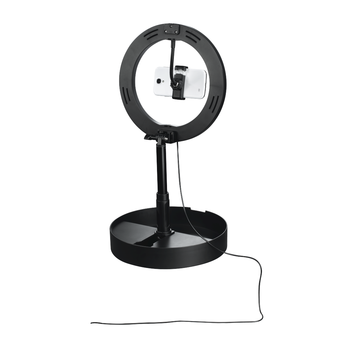 "abx10 High-Res-Image 10 - Hama, ""SpotLight FoldUp 102"" LED Ring Light, Set for Smartphones, Foldable, 10.2"""