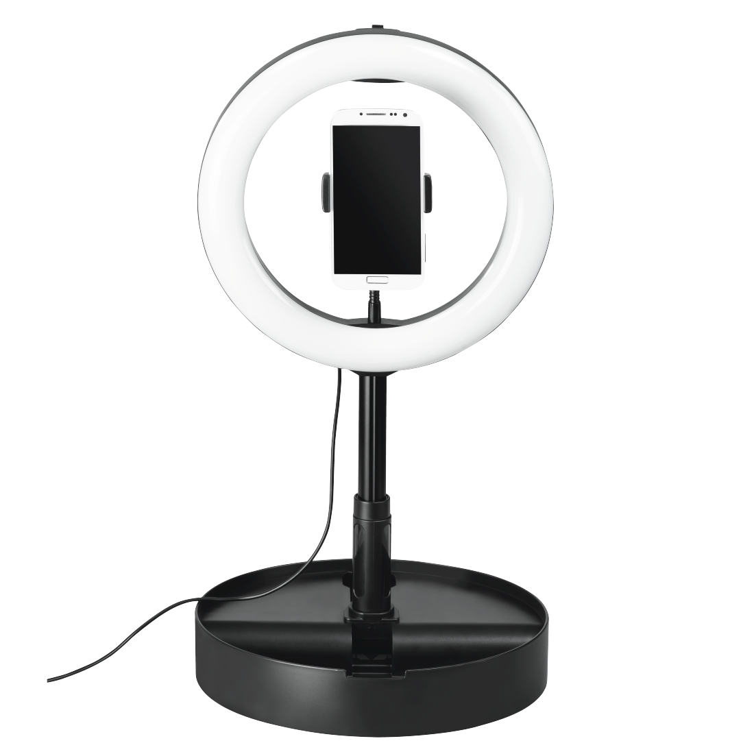 "abx4 High-Res Image4 - Hama, ""SpotLight FoldUp 102"" LED Ring Light, Set for Smartphones, Foldable, 10.2"""