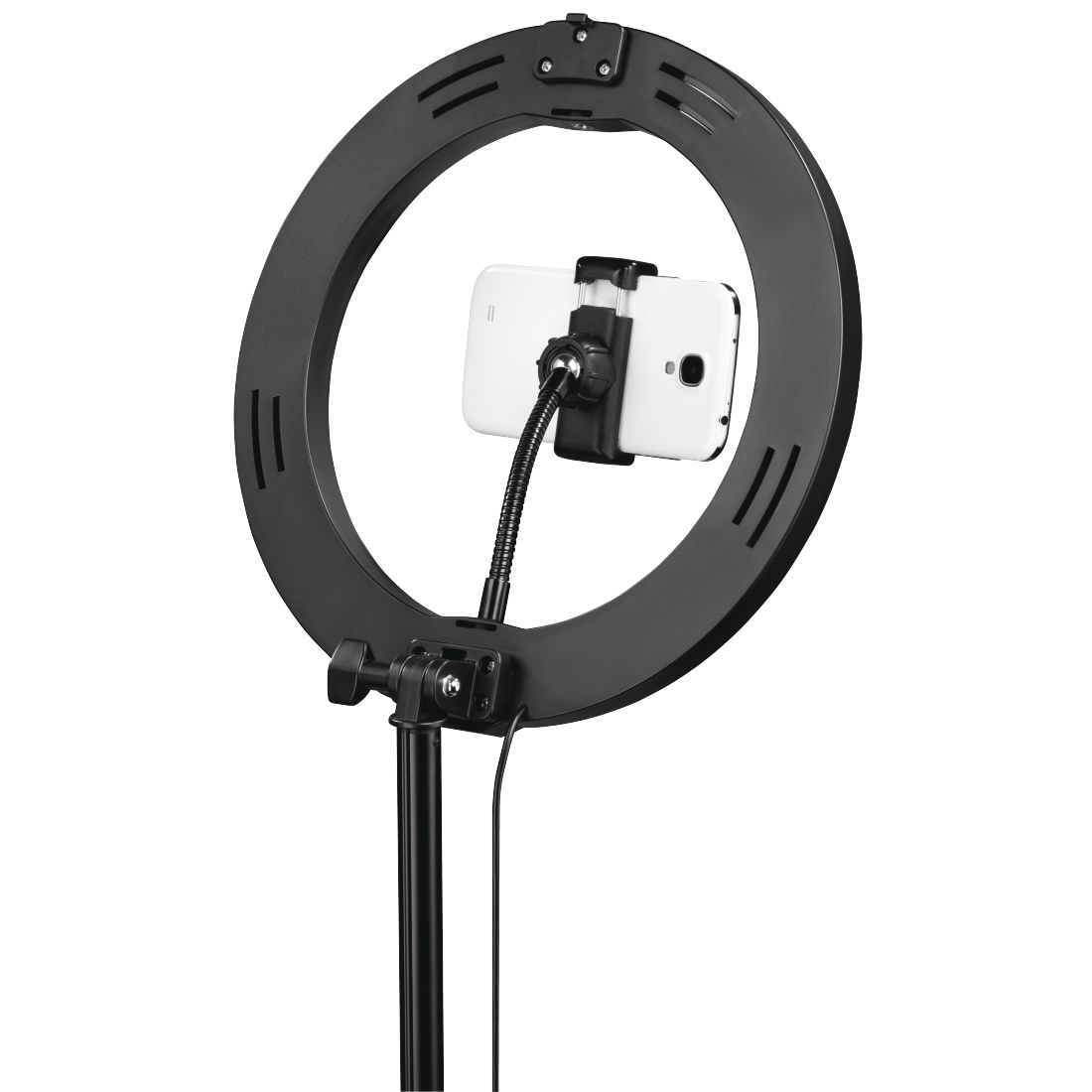 "abx7 High-Res Image 7 - Hama, ""SpotLight FoldUp 102"" LED Ring Light, Set for Smartphones, Foldable, 10.2"""