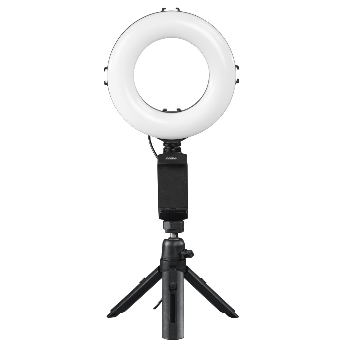 "abx High-Res Image - Hama, ""SpotLight Work Area 67"" LED Ring Light, Set for Smartphone and Tablet"