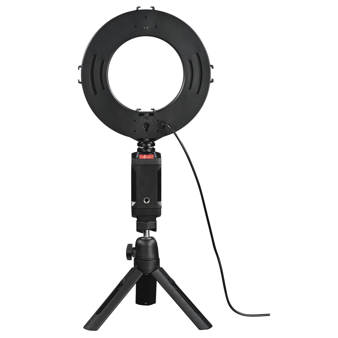 "abx2 High-Res Image 2 - Hama, ""SpotLight Work Area 67"" LED Ring Light, Set for Smartphone and Tablet"
