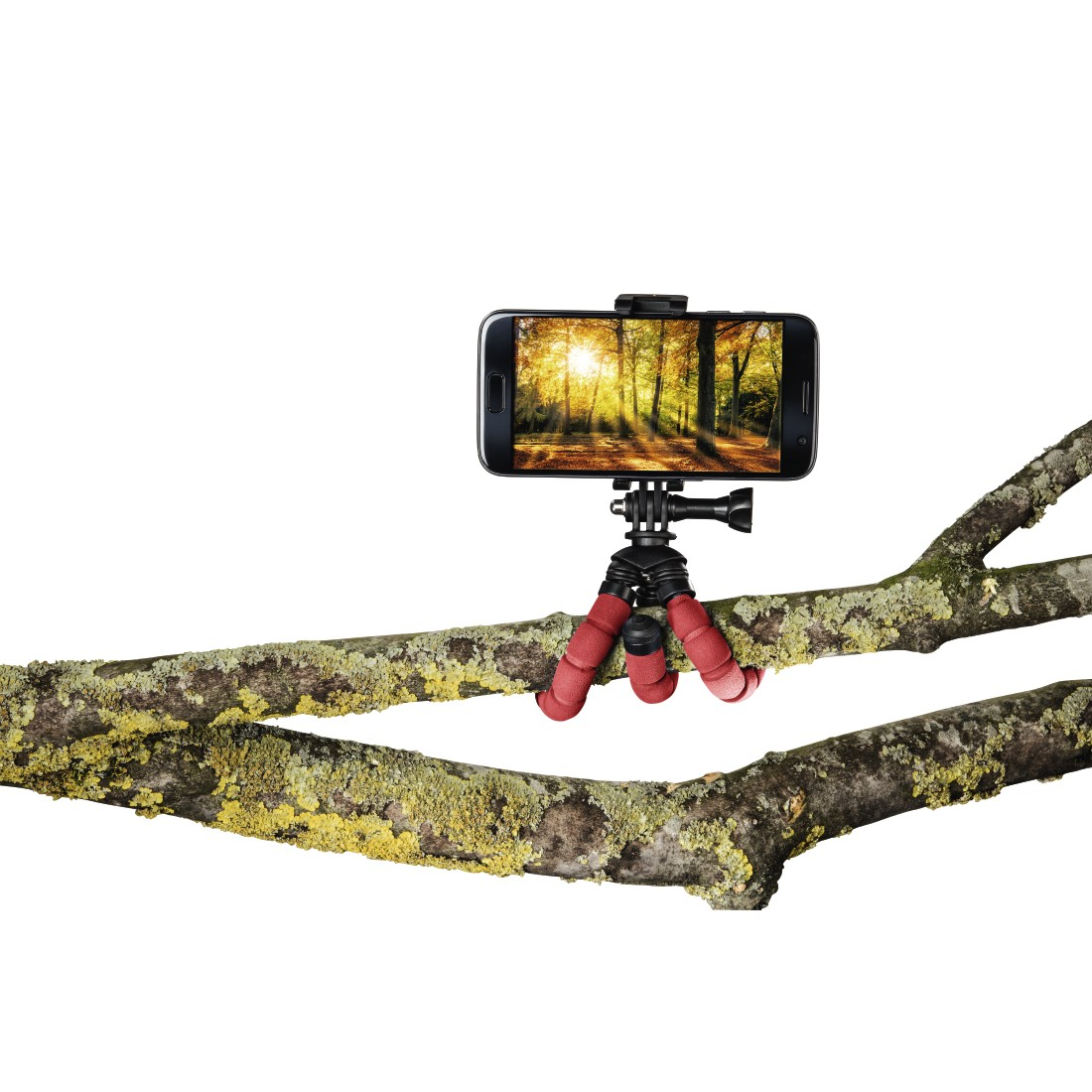 "awx High-Res Appliance - Hama, ""Flex"" Mini-Tripod for Smartphone and GoPro, 14 cm, red"