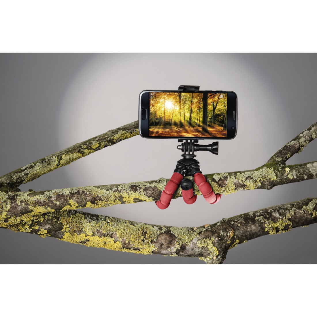 "awx2 High-Res Appliance 2 - Hama, ""Flex"" Mini-Tripod for Smartphone and GoPro, 14 cm, red"
