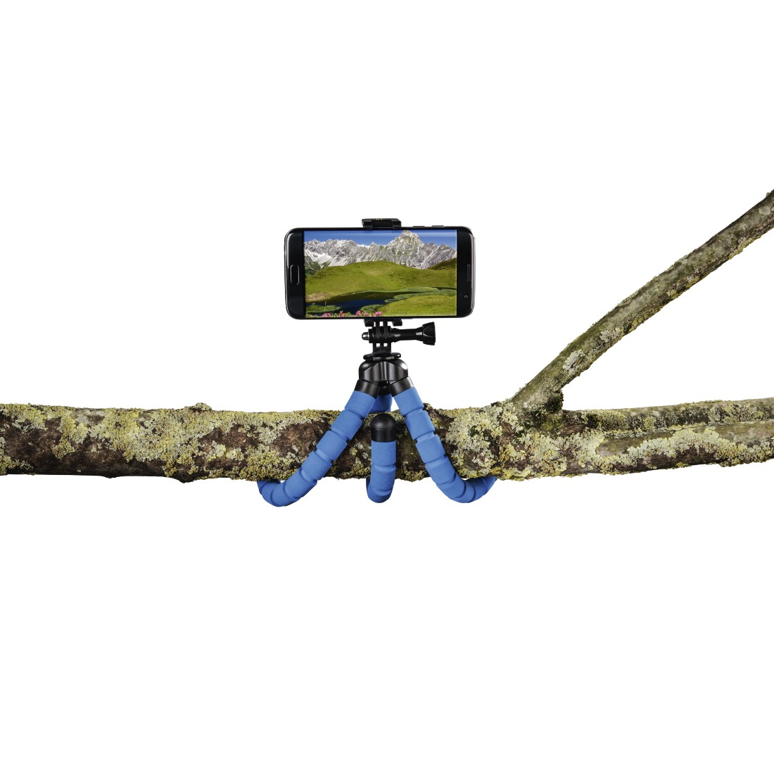 "awx High-Res Appliance - Hama, ""Flex"" Tripod for Smartphone and GoPro, 26 cm, blue"