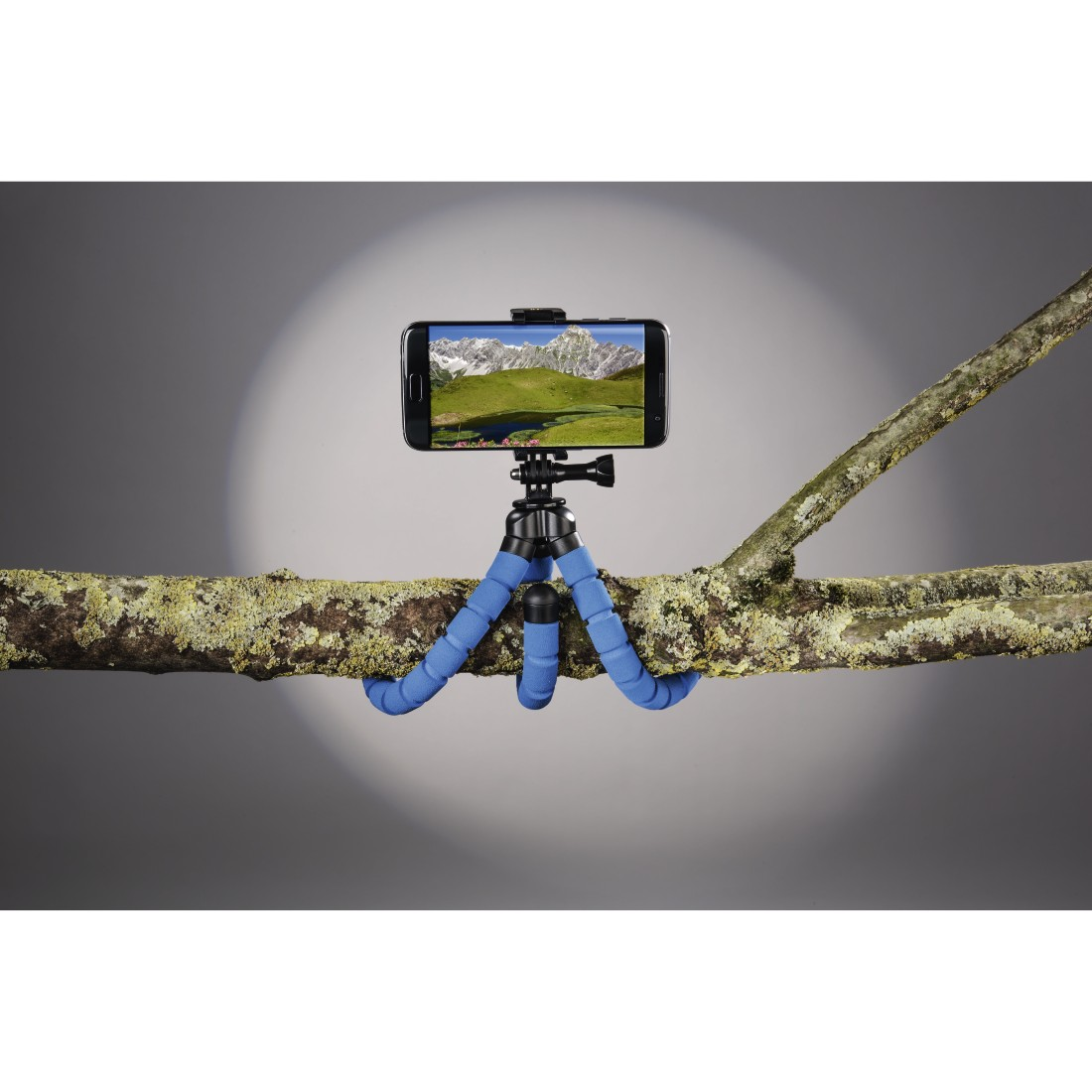"awx2 High-Res Appliance 2 - Hama, ""Flex"" Tripod for Smartphone and GoPro, 26 cm, blue"