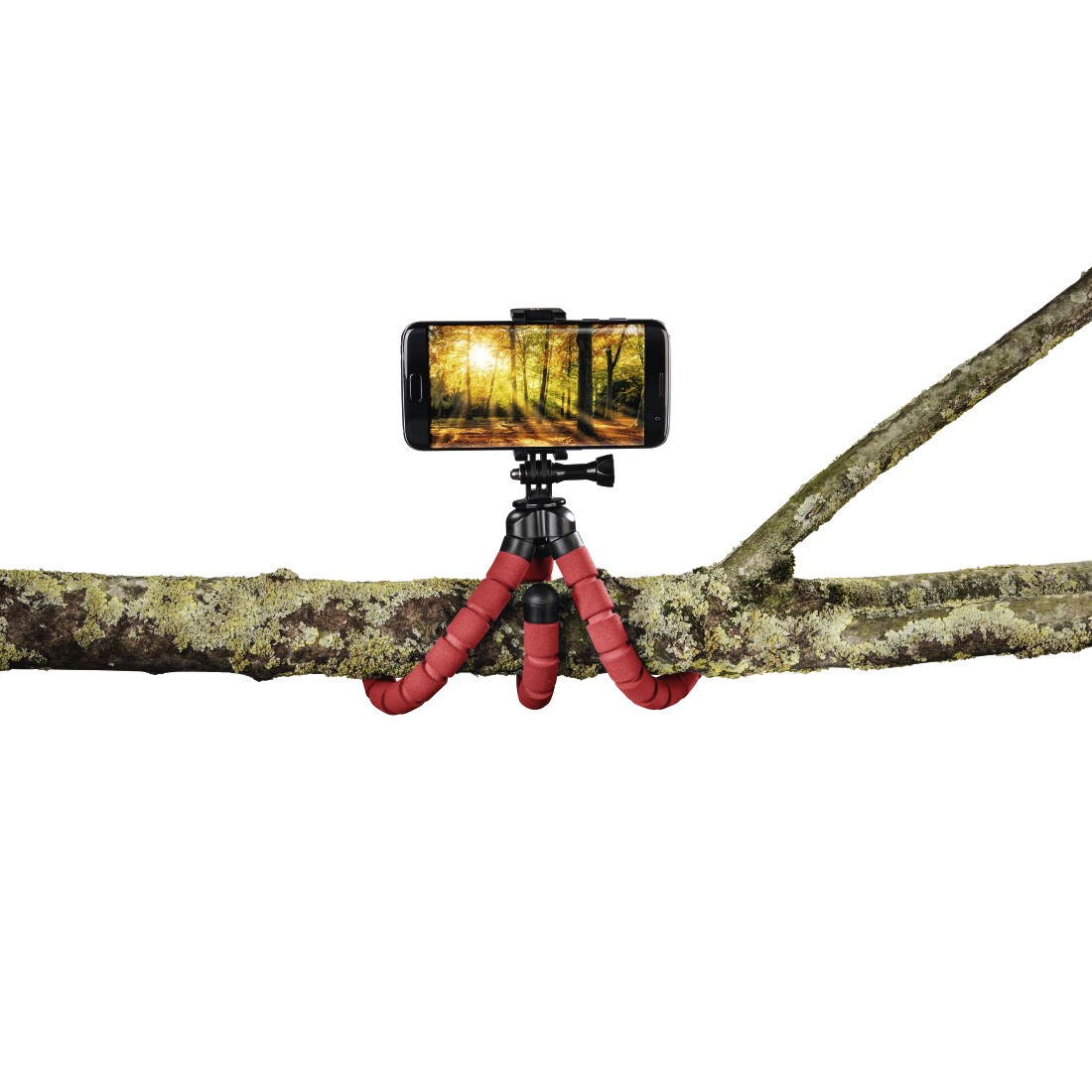 awx High-Res Appliance - Hama, Flex Tripod for Smartphone and GoPro, 26 cm, red