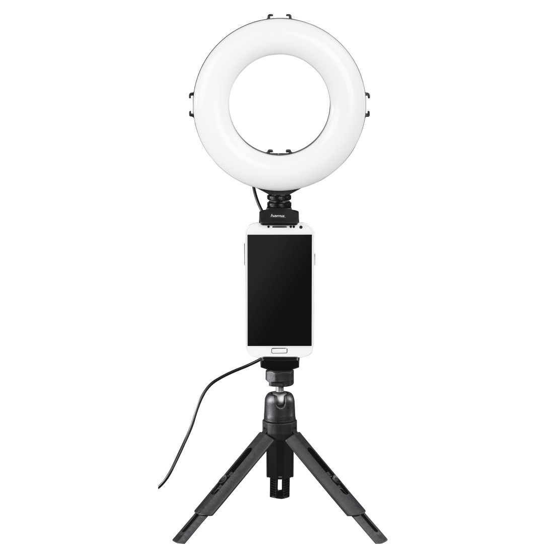 "awx High-Res Appliance - Hama, ""SpotLight Work Area 67"" LED Ring Light, Set for Smartphone and Tablet"