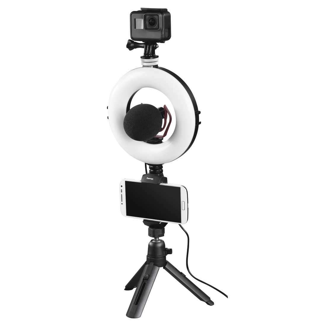 "awx10 Druckfähige Anwendung 10 - Hama, ""SpotLight Work Area 67"" LED Ring Light, Set for Smartphone and Tablet"