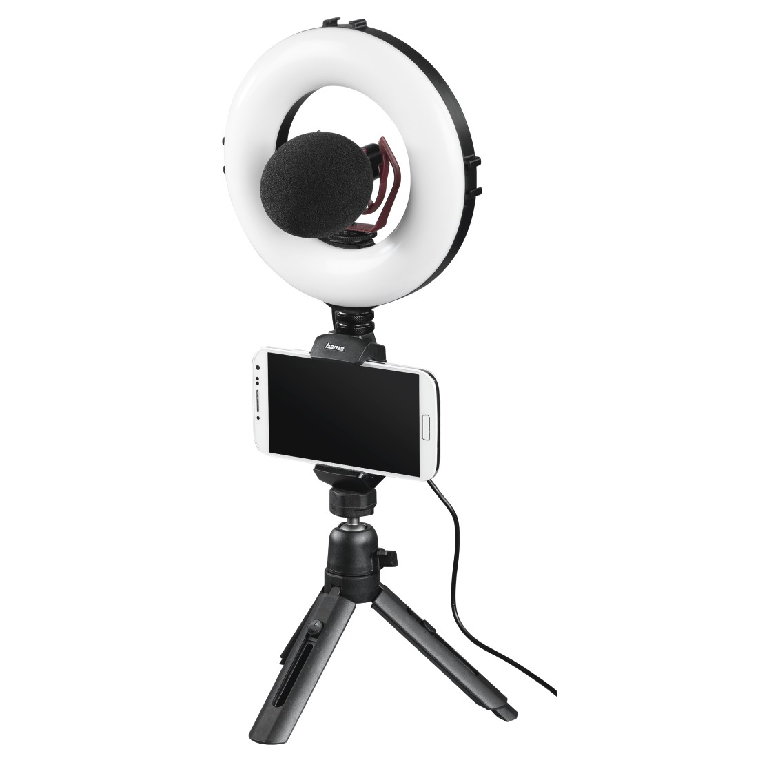 "awx11 Druckfähige Anwendung 11 - Hama, ""SpotLight Work Area 67"" LED Ring Light, Set for Smartphone and Tablet"
