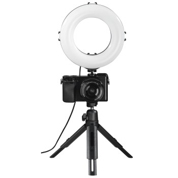 "det11 Detailansicht 11 - Hama, ""SpotLight Work Area 67"" LED Ring Light, Set for Smartphone and Tablet"