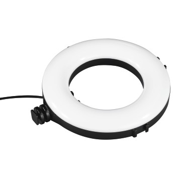 "det12 Detailansicht 12 - Hama, ""SpotLight Work Area 67"" LED Ring Light, Set for Smartphone and Tablet"