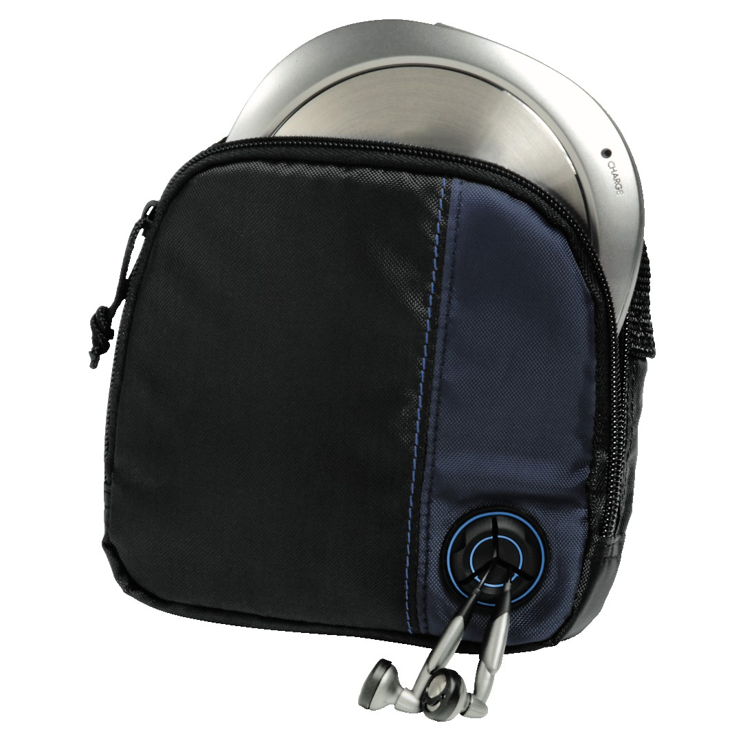 abx High-Res Image - Hama, CD Player Bag for Discman and 3 CDs, black/blue