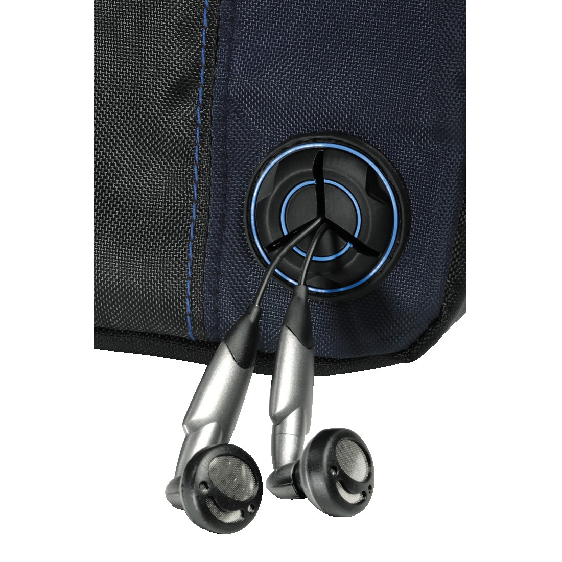 abx2 High-Res Image 2 - Hama, CD Player Bag for Discman and 3 CDs, black/blue