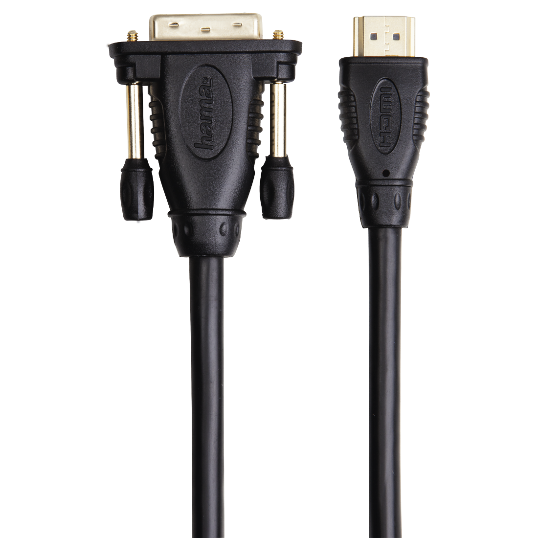 abx2 High-Res Image 2 - Hama, Adapter Cable, DVI plug - HDMI™ plug, gold-plated, double shielded, 2 m