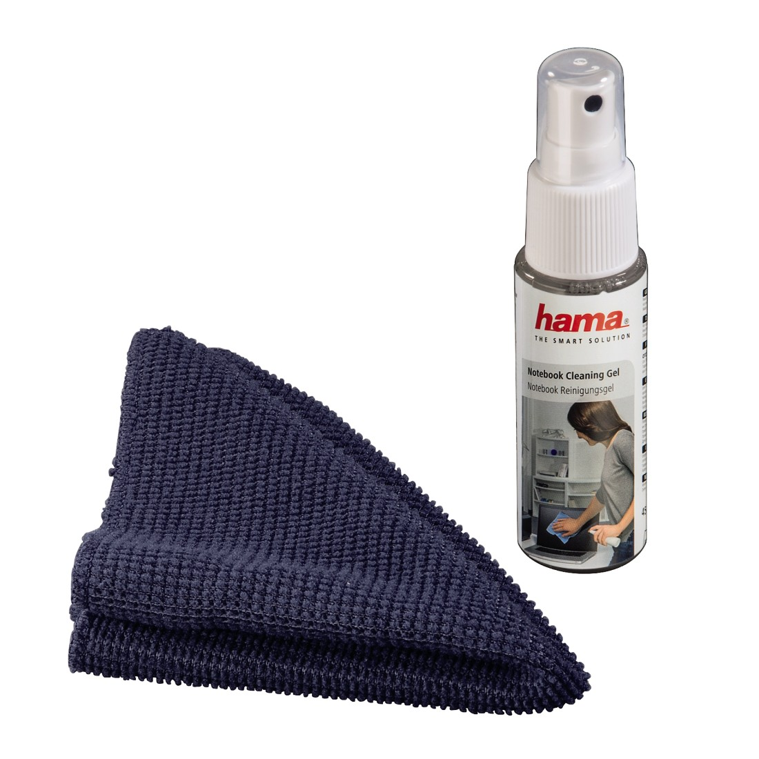 abx High-Res Image - Hama, Notebook Cleaning Gel and Microfiber Cloth
