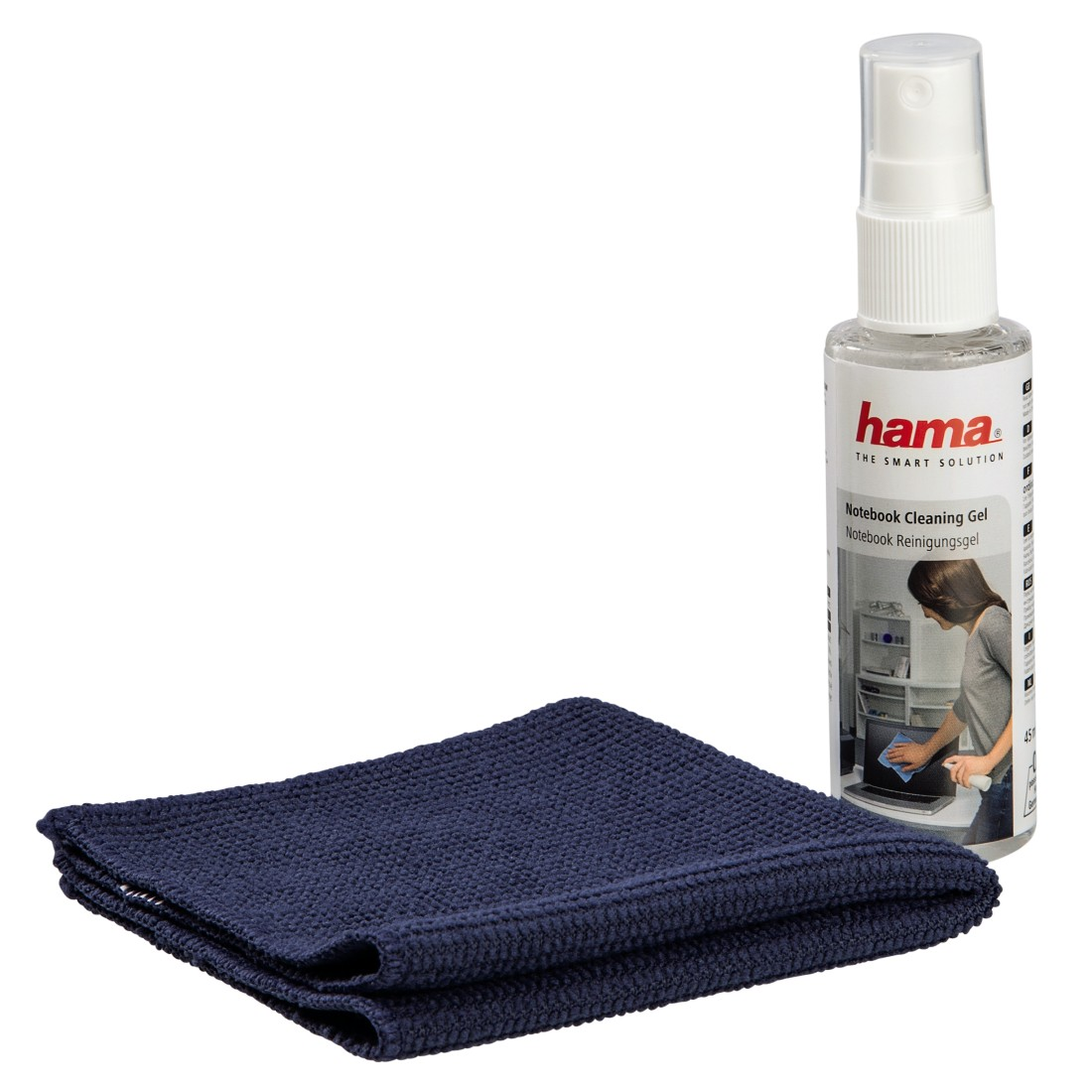 abx2 High-Res Image 2 - Hama, Notebook Cleaning Gel and Microfiber Cloth
