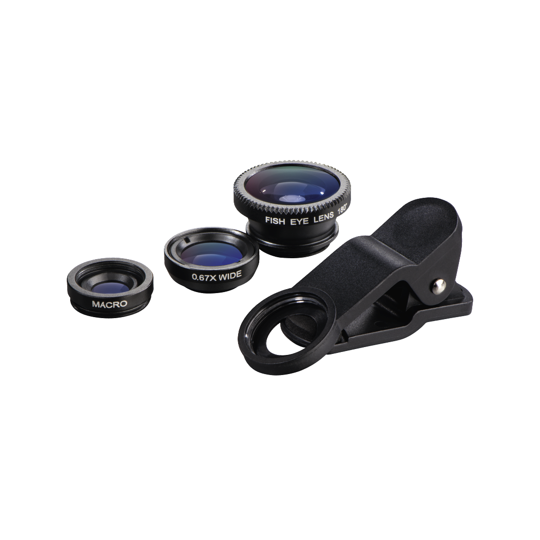 "abx High-Res Image - Hama, 3in1 ""Uni"" Lens Kit for Smartphones and Tablet PCs"
