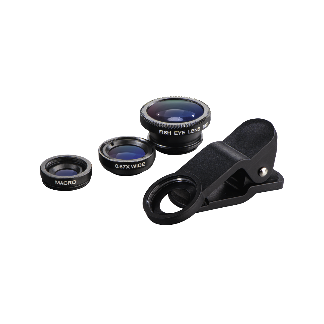 "abx2 High-Res Image 2 - Hama, 3in1 ""Uni"" Lens Kit for Smartphones and Tablet PCs"