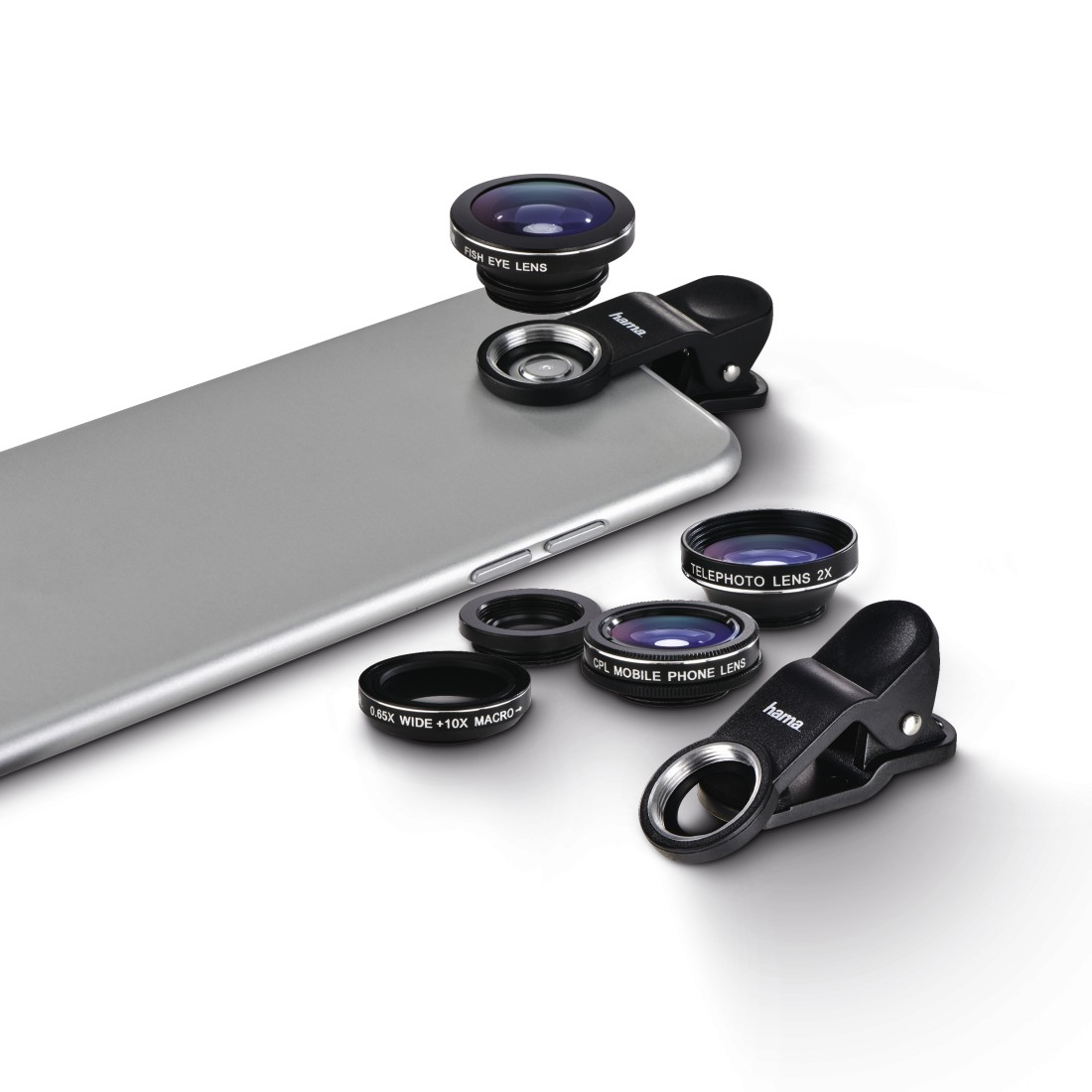 "awx6 High-Res Appliance 6 - Hama, ""Uni"" 5-in-1 Lens Set, MC, for Smartphones and Tablets"