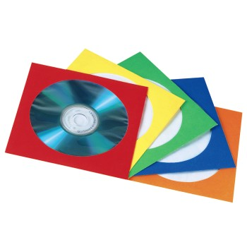 abb Image - Hama, CD/DVD Paper Sleeves, pack of 100, assorted colours