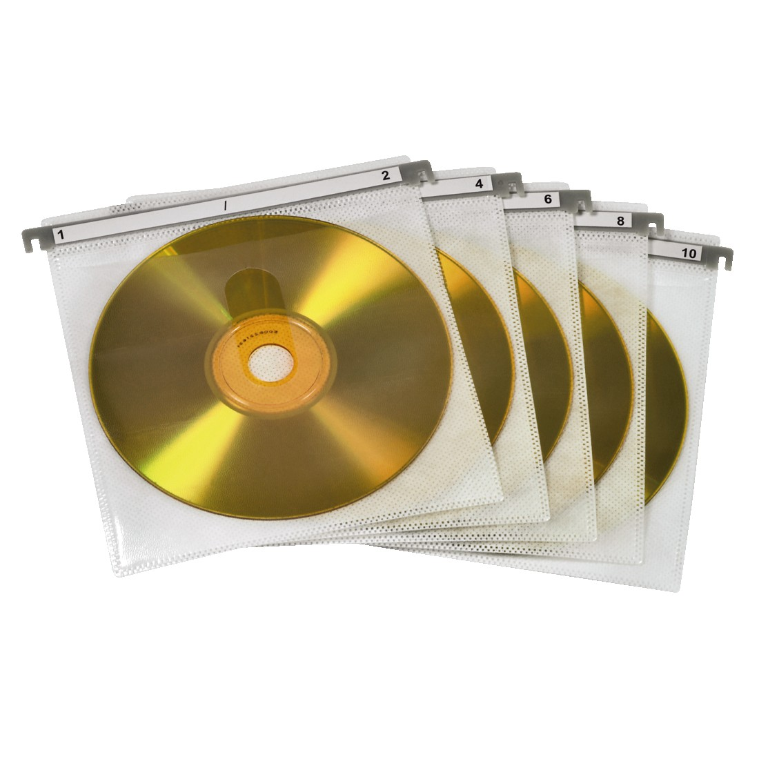abx High-Res Image - Hama, CD/DVD Double Protective Sleeves, pack of 50, white
