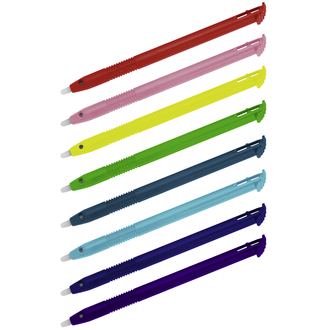 abx High-Res Image - Hama, Input Pens for New 3DS XL, set of 8, rainbow colours