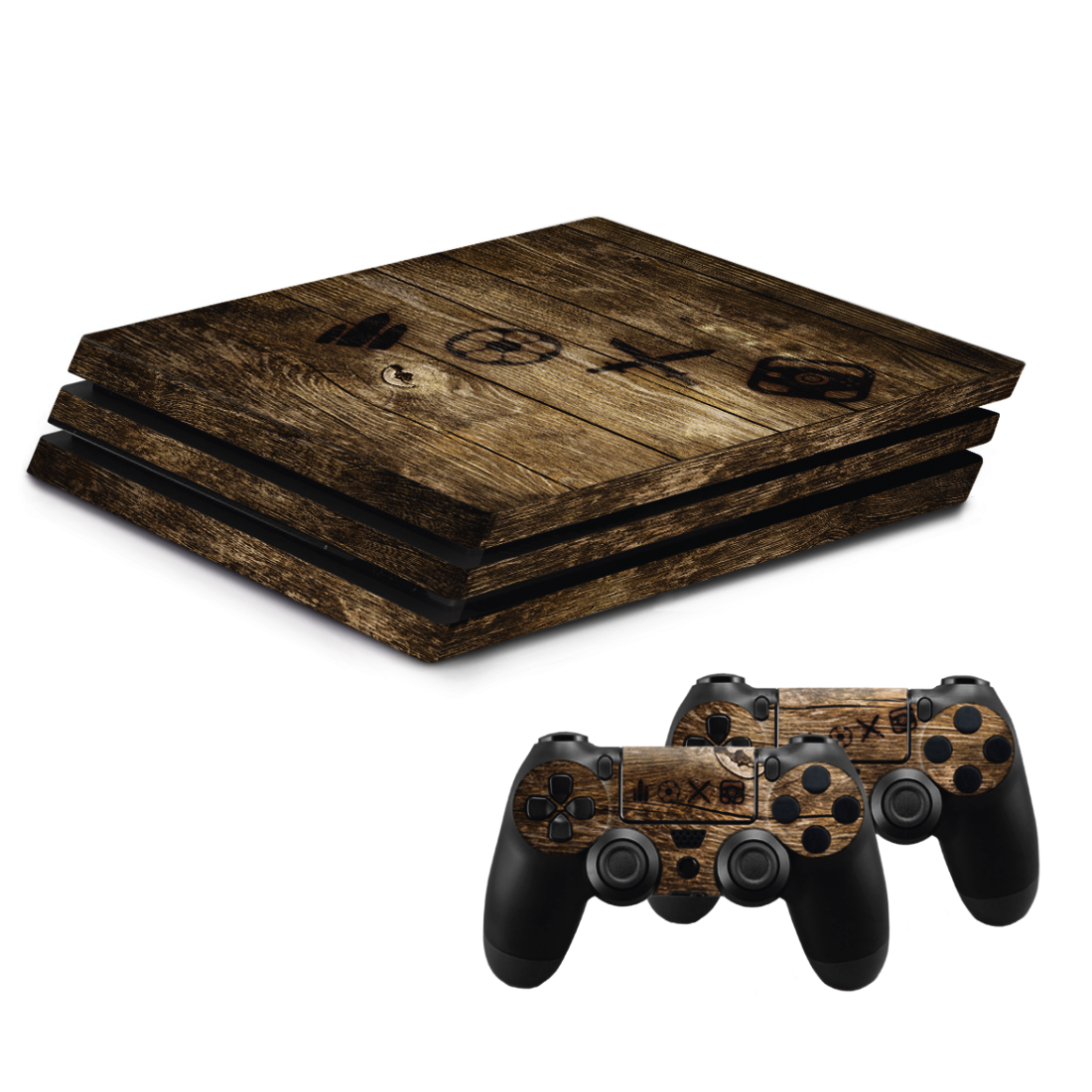 "abx High-Res Image - Hama, ""Wood"" Design Skin for PlayStation 4 PRO"
