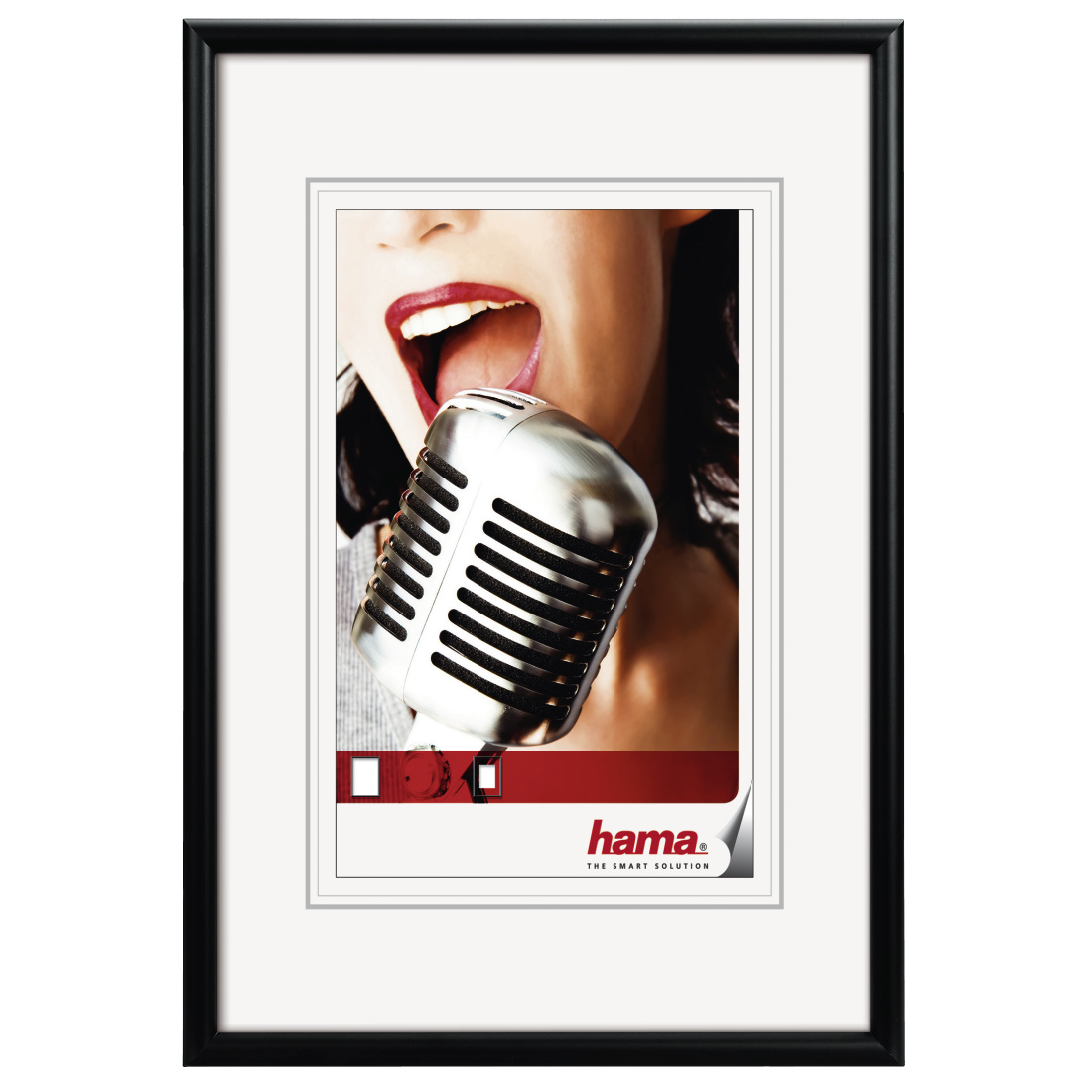 "abx High-Res Image - Hama, ""Chicago"" Aluminium Frame, black, 50 x 70 cm"