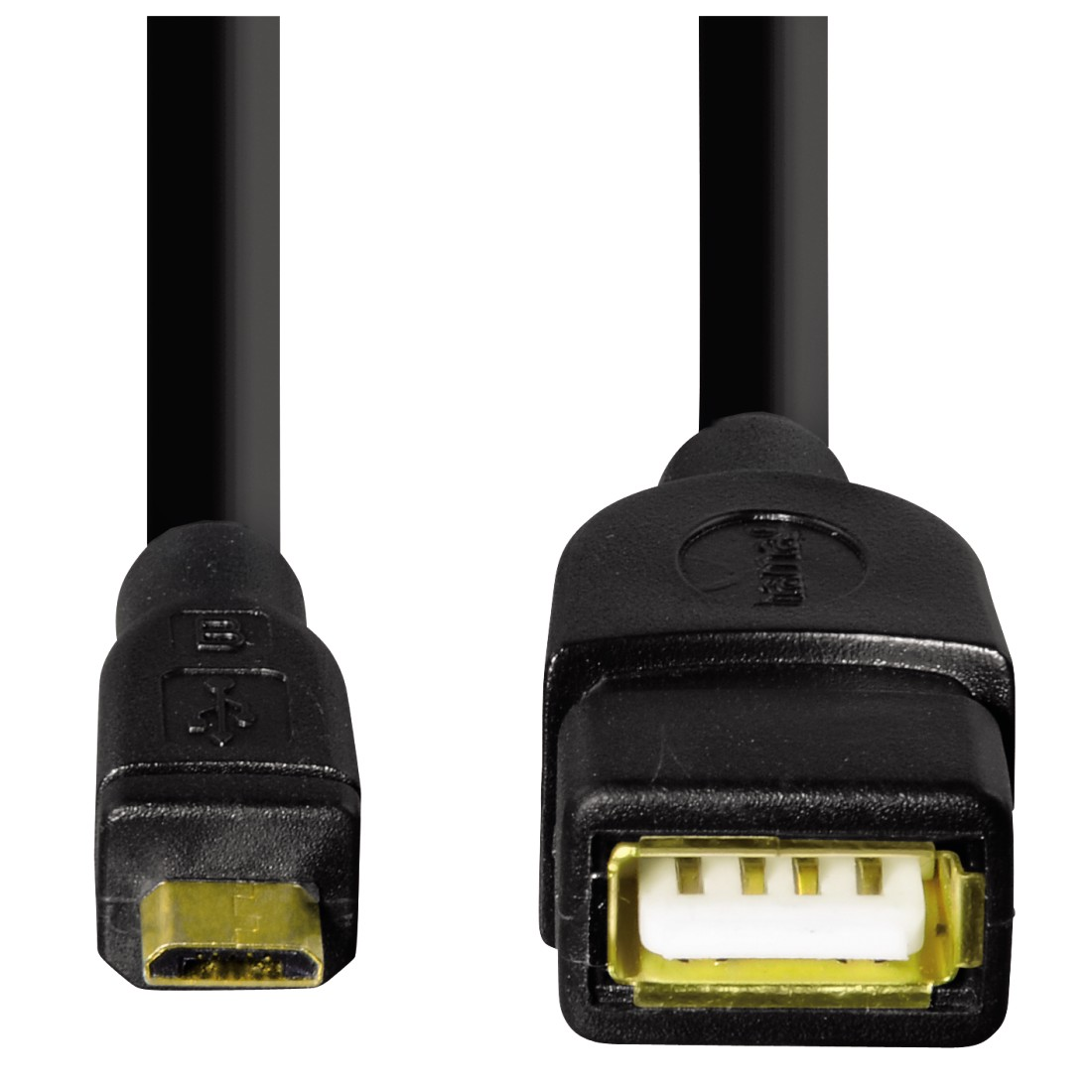 dex High-Res Detail - Hama, USB 2.0 OTG Adapter Cable, micro plug - A socket, black, 0.15 m