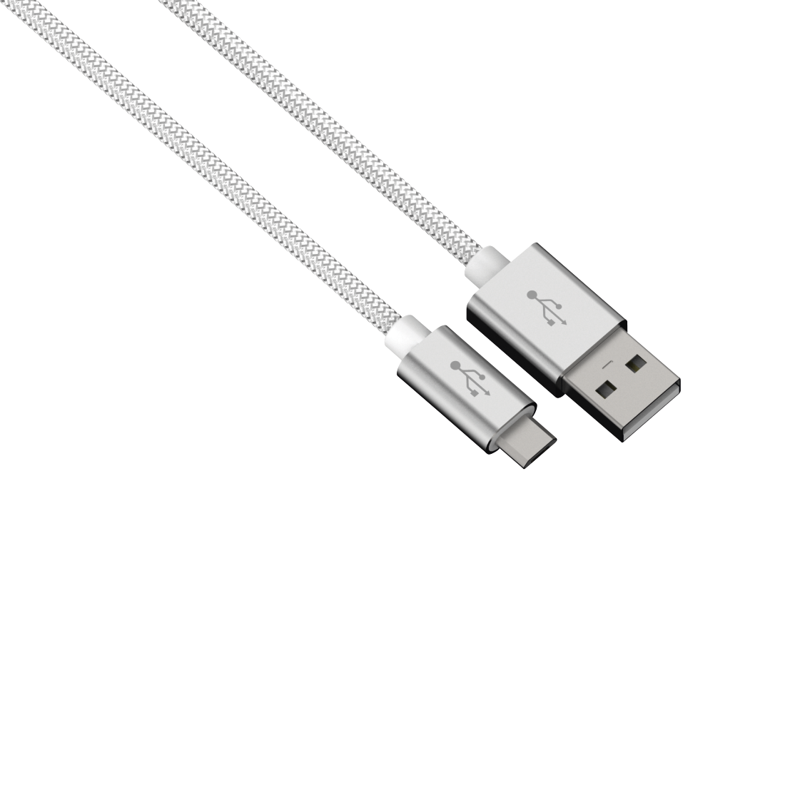 abx High-Res Image - Hama, Color Line Charging/Data Cable, Micro-USB, Aluminium, 0.5 m, white