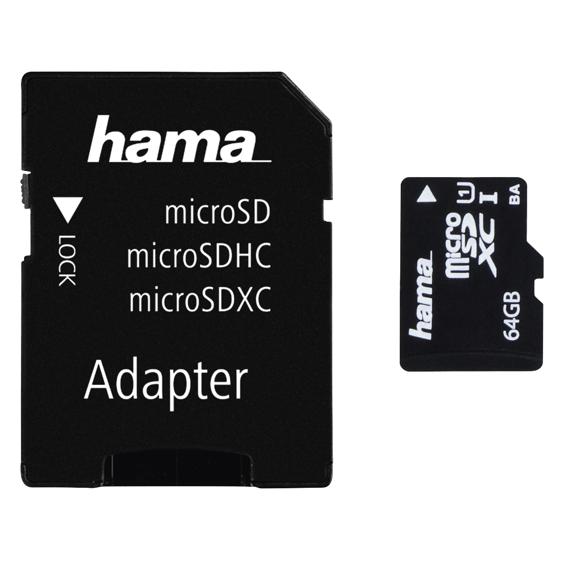 abx2 High-Res Image 2 - Hama, USB 2.0 Card Reader + Adapter Kit, microSD, black