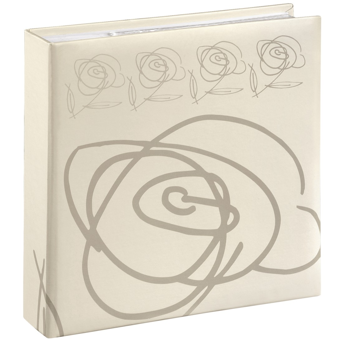 abx High-Res Image - Hama, Wild Rose Memo Album, for 200 photos with a size of 10x15 cm, white