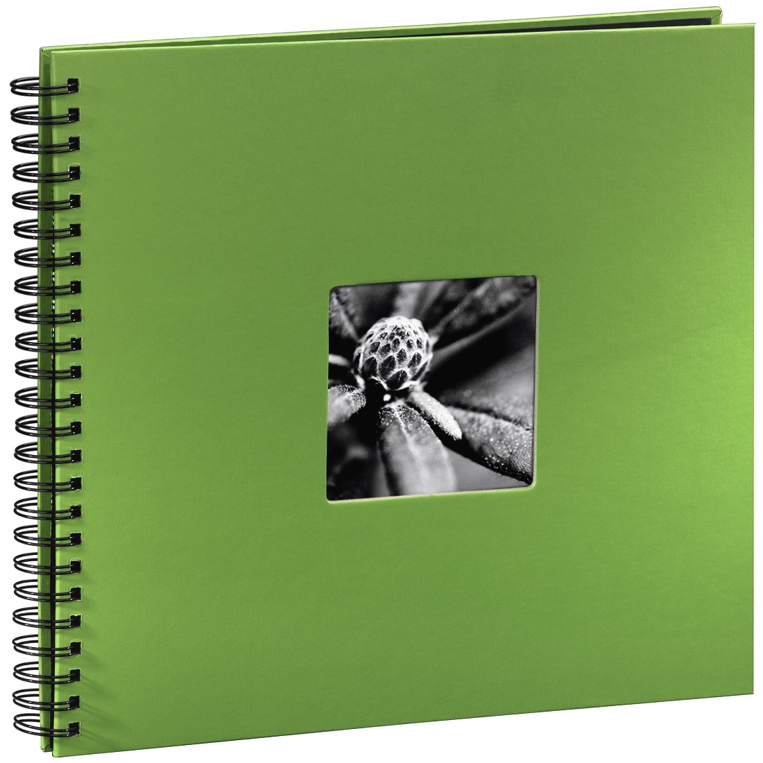 abx High-Res Image - Hama, Fine Art Spiralbound Album, 36 x 32 cm, 50 black pages, apple-green