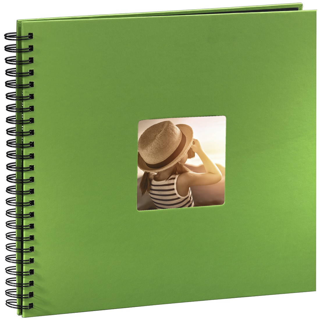 abx2 High-Res Image 2 - Hama, Fine Art Spiralbound Album, 36 x 32 cm, 50 black pages, apple-green