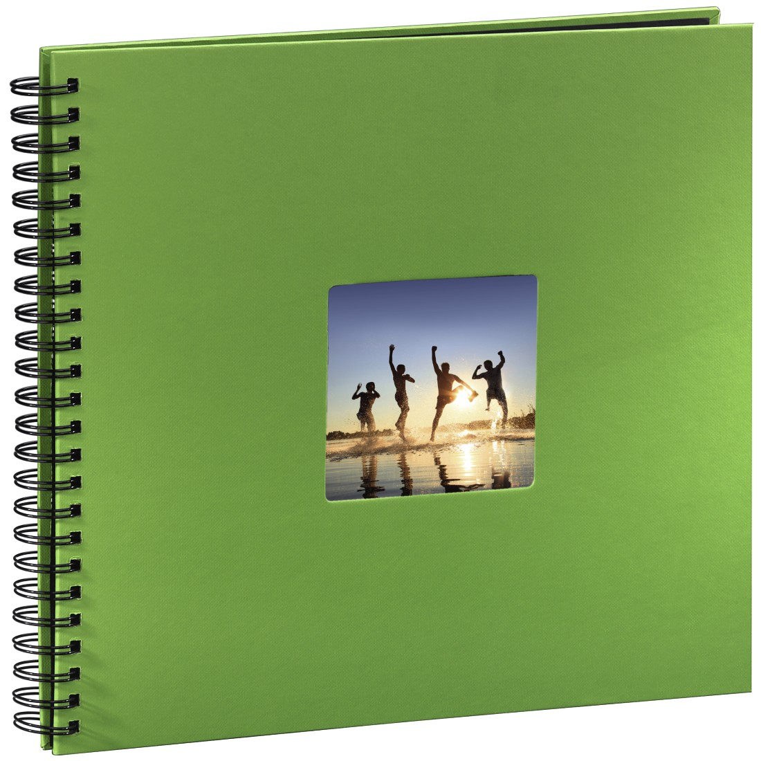 abx3 High-Res Image 3 - Hama, Fine Art Spiralbound Album, 36 x 32 cm, 50 black pages, apple-green