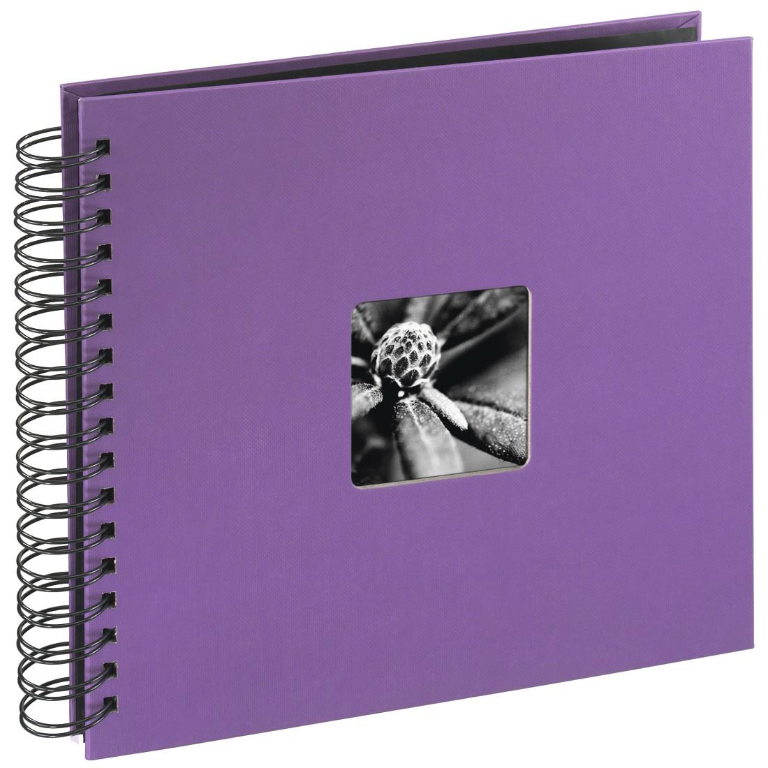 Fine Art Spiralbound Photo Album, 28cm x 24cm 50 Pages, Purple