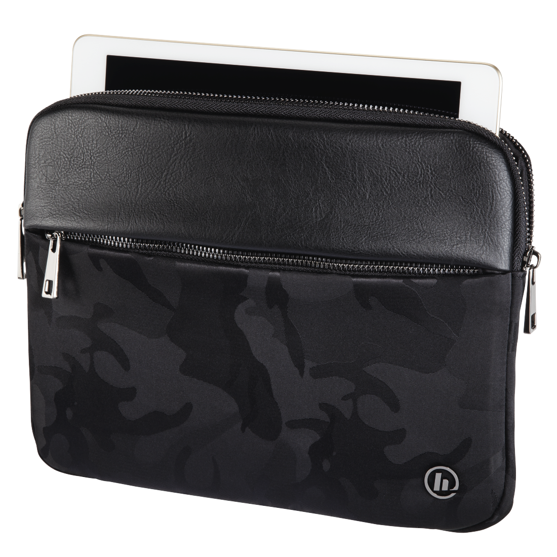 abx2 High-Res Image 2 - Hama, Mission Camo Tablet Sleeve, up to 25.6 cm (10.1), gun metal