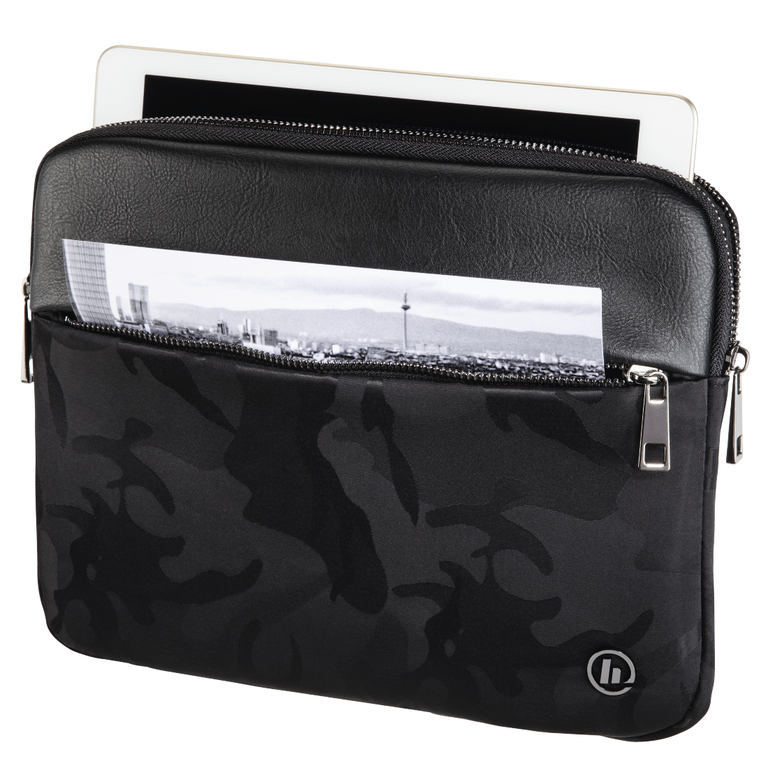 abx3 High-Res Image 3 - Hama, Mission Camo Tablet Sleeve, up to 25.6 cm (10.1), gun metal