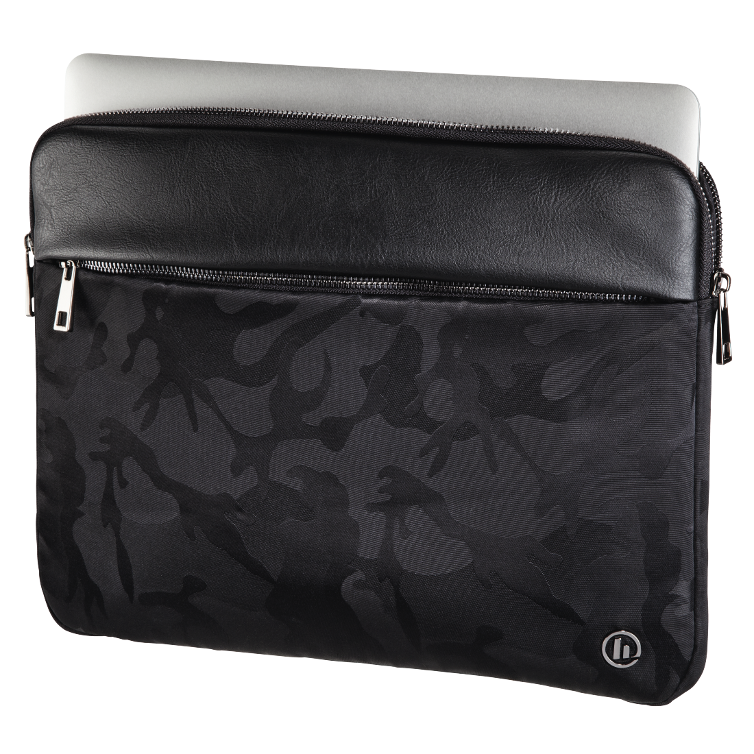 abx2 High-Res Image 2 - Hama, Mission Camo Notebook Sleeve, up to 40 cm (15.6), gun metal