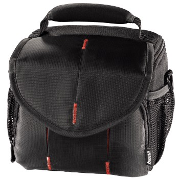abb Image - Hama, Canberra Camera Bag, 110, black/red