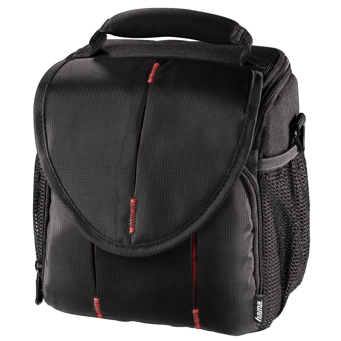 abx High-Res Image - Hama, Canberra 120 Camera Bag, black/red