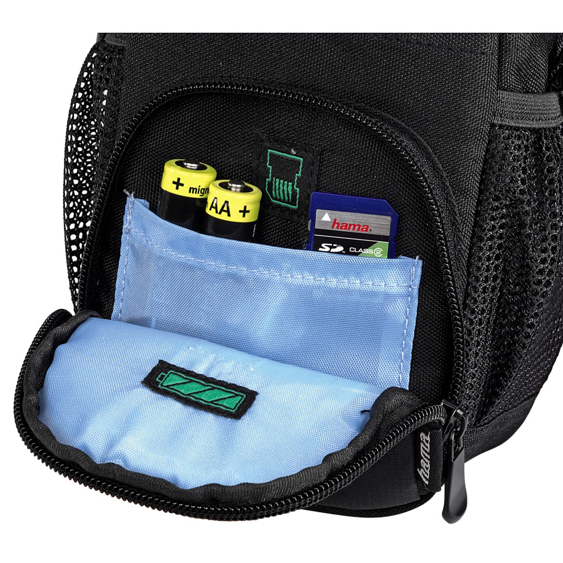 dex High-Res Detail - Hama, Canberra Camera Bag, 90L, black/blue
